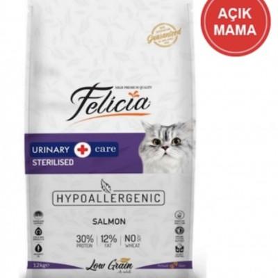 Felicia Light Sterilised Somonlu Düşük Tahıllı Kısırlaştırılmış Yetişkin Kedi Açık Mama 1 KG