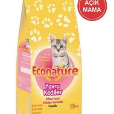 Econature Kitten Tavuklu Yavru Kedi Açık Mama 1 KG