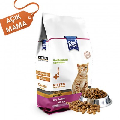 Paw Paw Kitten Kedi Maması 1kg Açık Mama