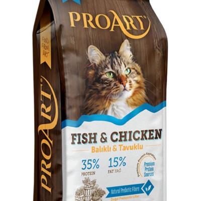 Proart Balıklı ve Tavuklu Yetişkin Kedi Maması 12 KG