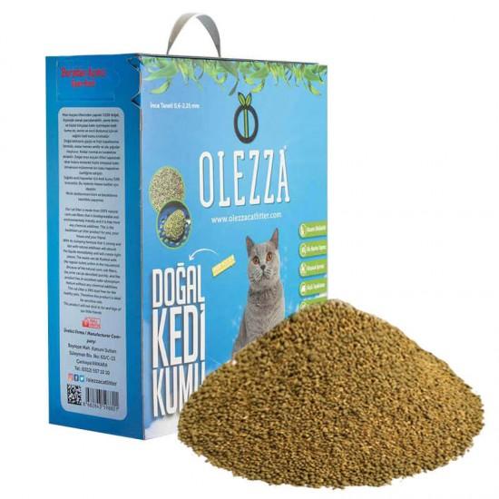 Olezza Organik Kedi Kumu Mısır Granüllü 5 Kg 10 Litre