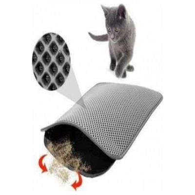 Elekli Kedi Tuvalet Önü Paspası 60 x 45 cm