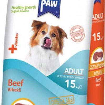 Pawpaw Erişkin Biftek Köpek Maması 15 Kg