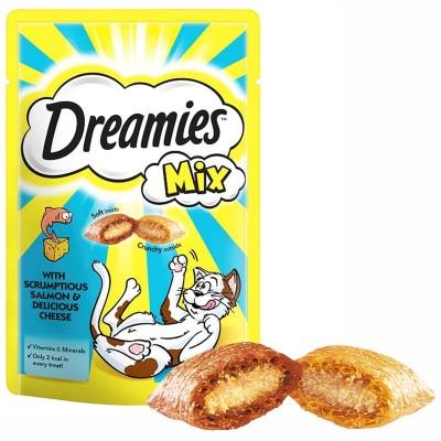 Dreamies Mix Kedi Ödül Maması Somon Balıklı Ve Peynirli 60 gr