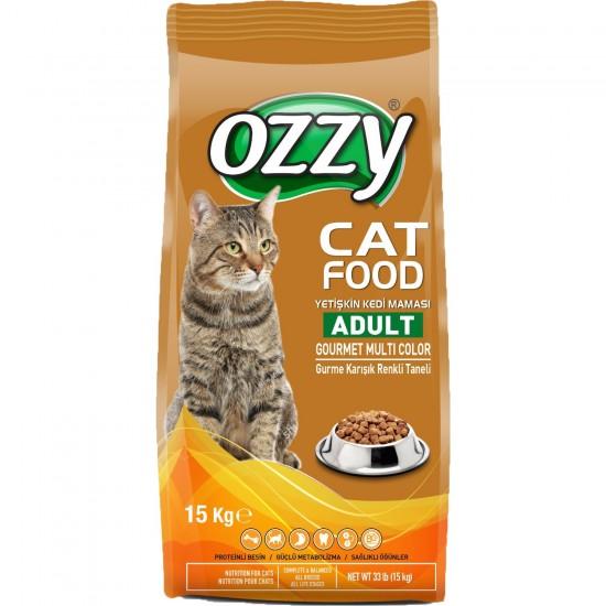 Ozzy Gurme Renkli Taneli Yetişkin Kedi Maması 15 kg