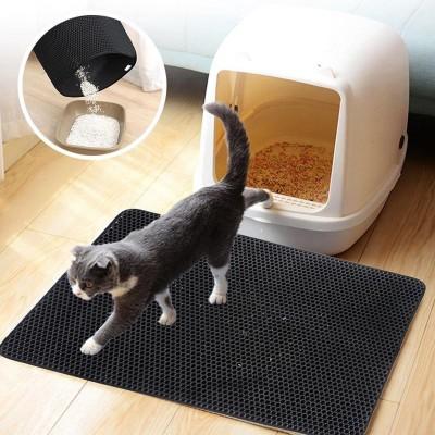 Kedi Tuvalet Önü Kum Toplayıcı Temizleyici Elekli Gri Paspas